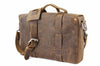 No. 4313 - Minimalist Standard Leather Satchel in Crazy Horse