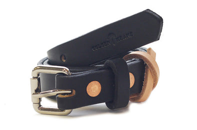 No. 814 - Skinny Work Belt in Bridle Black