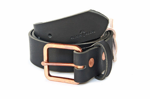 No. 919 - Copper Work Belt in Bridle Black