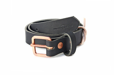 No. 819 - Skinny Copper Work Belt in Bridle Black