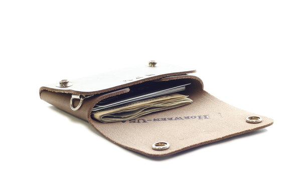 No. 514 - Small Trucker Wallet in Horween's Natural Brown