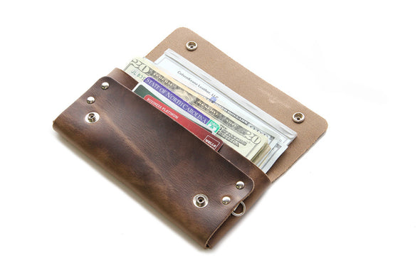 No. 514 - Large Trucker Wallet in Horween's Natural Brown