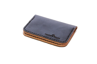 No. 215 - Card Wallet in Horween's Black