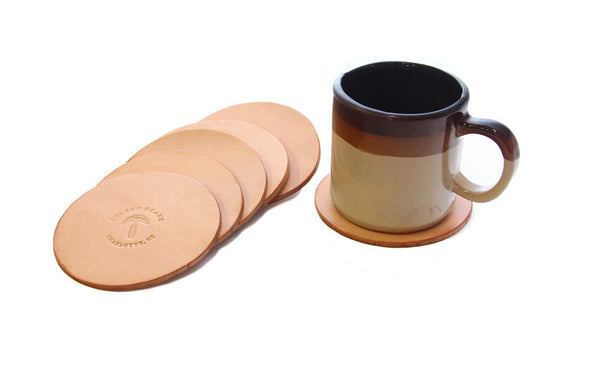 No. 314 - Six Coasters in Natural Tan