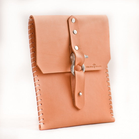 No. 911 - iPad Mini Sheath w/ Buckle in Natural Tan