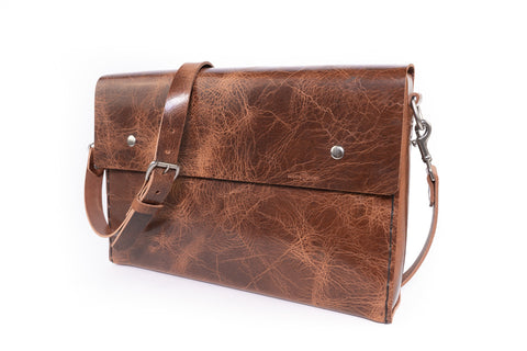 No. 4319 - Portfolio Bag in Glazed Tan