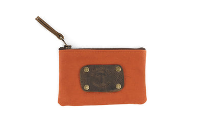 Canvas Pouch in Orange - Small