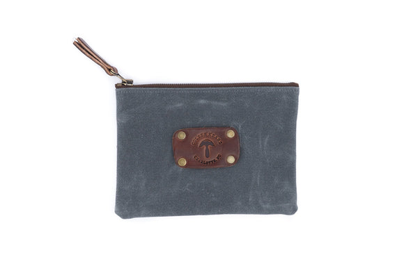 Canvas Pouch in Grey - Medium