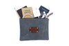 Canvas Pouch in Grey - Large
