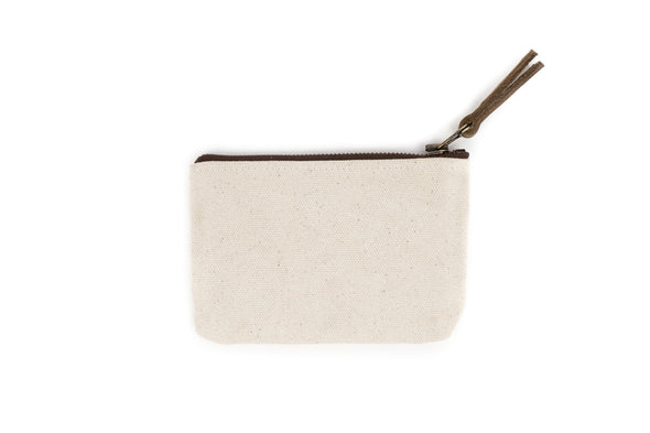 Canvas Pouch in Grey - Small