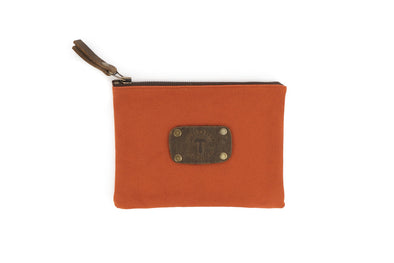 Canvas Pouch in Orange - Medium