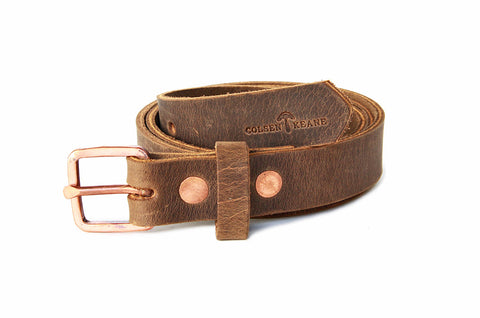 No. 819 - Skinny Copper Work Belt in Crazy Horse