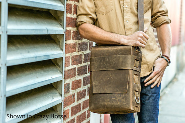 No. 820 - The Classic Handmade Leather Bag in Glazed Tan
