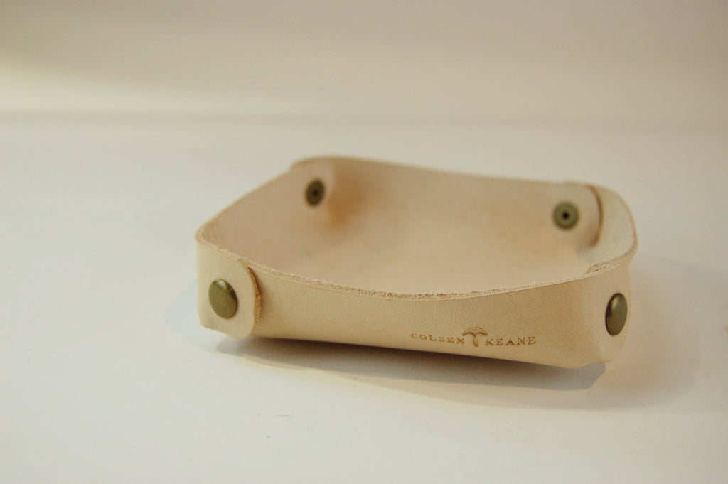 No. 1218 - Valet Tray in Natural Tan - S72 - $18