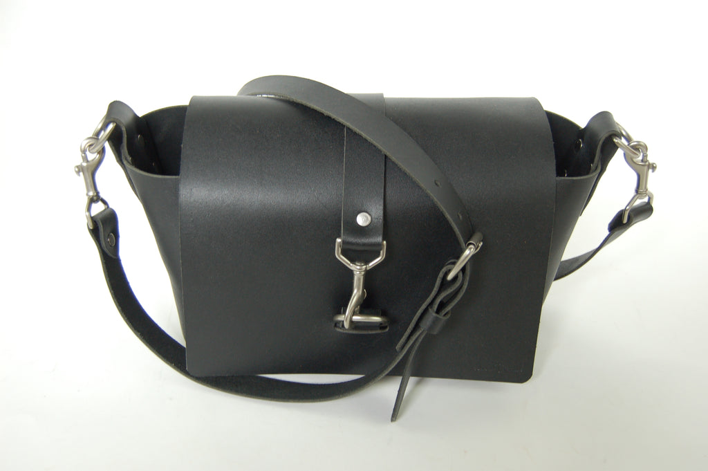 No. 517 The Daily Crossbody Bag in Deep Black - SSB16- $78.75