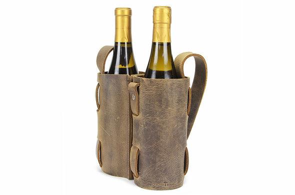 No. 119 - Double Wine Carrier in Crazy Horse