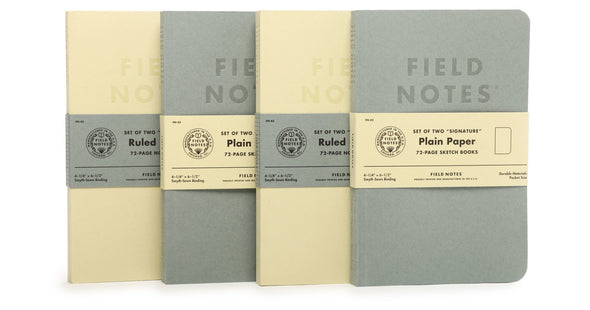Field Notes Inserts - Signature Edition (Plain Paper)