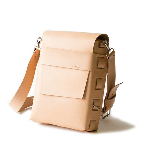 No. 820 - The Classic Handmade Leather Bag in Natural Tan