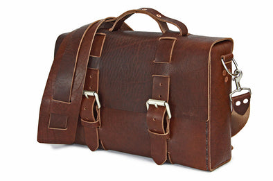 No. 4313 - Minimalist Standard Leather Satchel in Lancaster Brown - LIMITED RUN - ONLY ONE MADE!