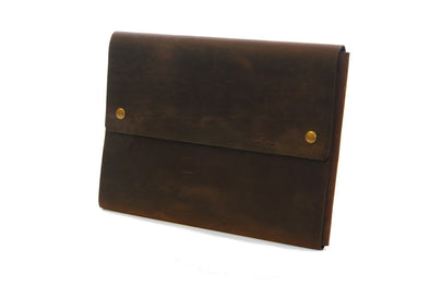 Exterior Pocket for 4313 Leather Satchels in Crazy Horse