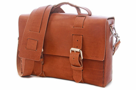 No. 4313 - Minimalist Standard Leather Satchel in Horween's Bourbon Brown - ONLY ONE LEFT!