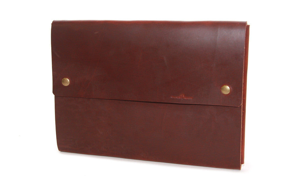 "No. 1214 - Large Portfolio Case in Scotch Grunge (Fits 15"" Macbook Pro)"