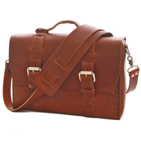 No. 4313 - Standard Minimalist Leather Satchel in Rye Whiskey