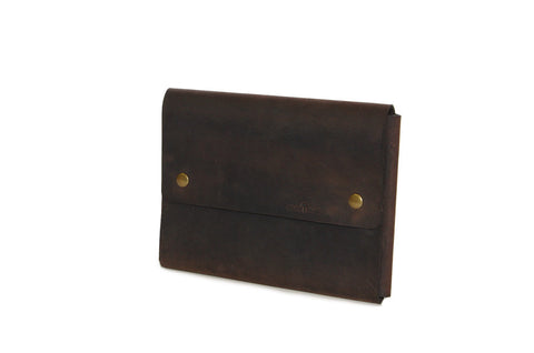 No. 1214 - iPad Air/Mini Portfolio Case in CrazyHorse Brown