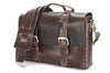 No. 4313 - Minimalist Standard Leather Satchel in Hawthorne Brown