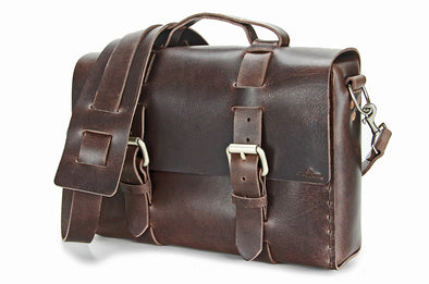 No. 4313 - Minimalist Standard Leather Satchel in LIMITED Hawthorne Brown