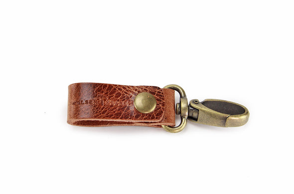No. 614 - Key Fob in Glazed Tan