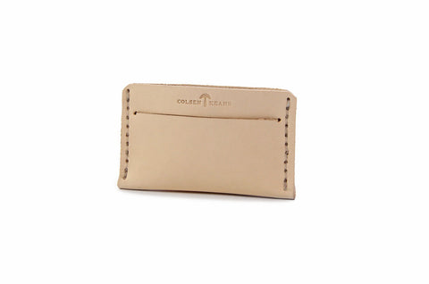 No. 613 - Card Sheath in Natural Tan