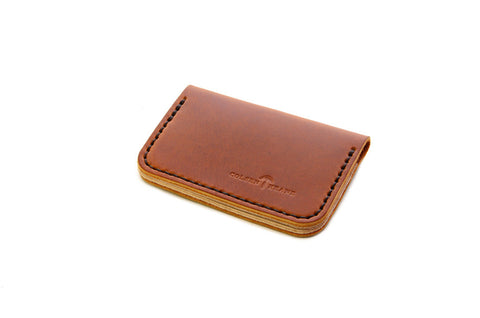 No. 215 - Card Wallet in Horween's Sunflower