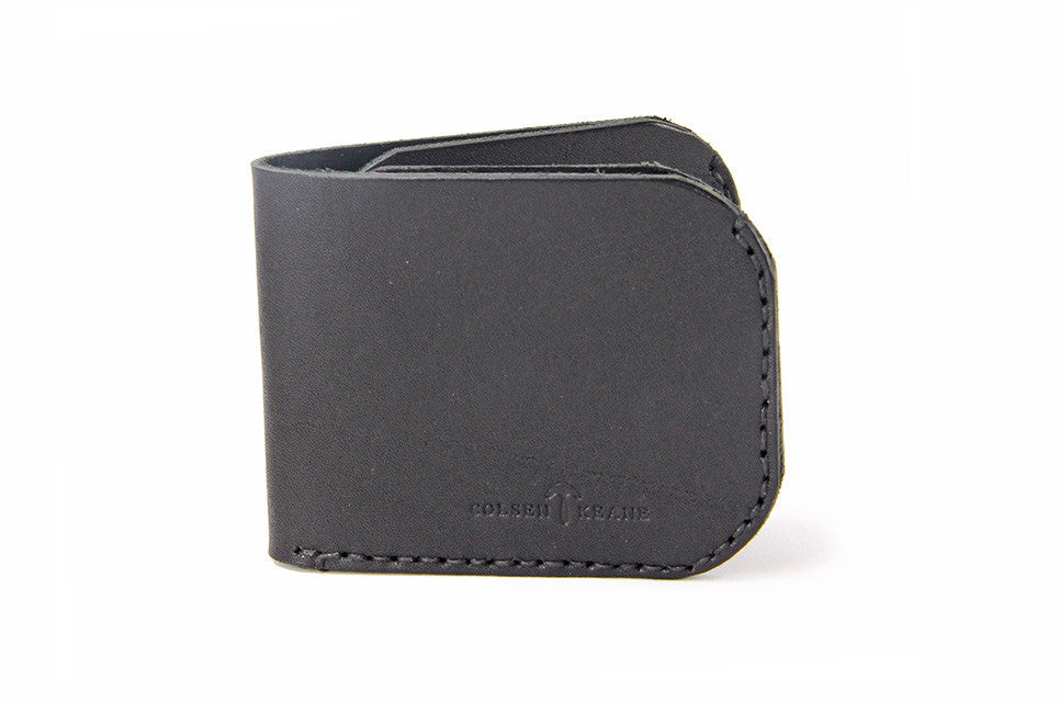No. 817 Bi-Fold Wallet in Deep Black