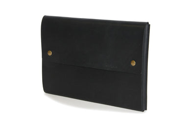 "No. 1214 - Large Portfolio Case in Black (Fits 15"" & 16"" MacBook Pro)"