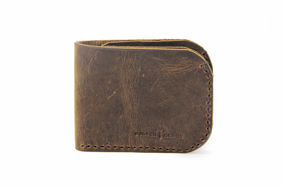 No. 817 Bi-Fold Wallet in Crazy Horse