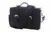 No. 4313 - Minimalist Large Leather Satchel in Buffalo Black