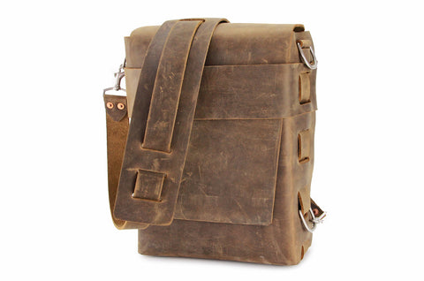 No. 820 - The Classic Handmade Leather Bag in Crazy Horse