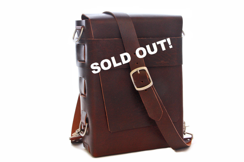 No. 820 - The Classic Handmade Leather Bag in Aged Rum - SOLD OUT