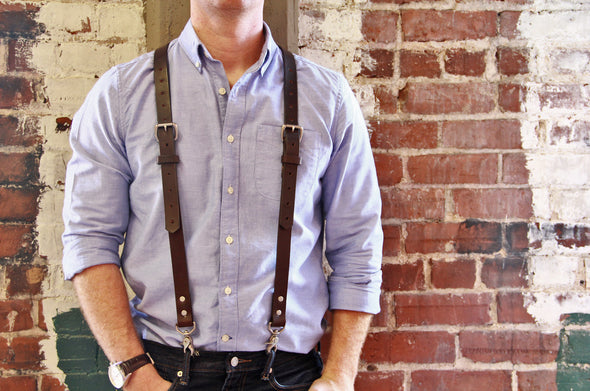 No. 1216 Suspenders in Bridle Brown