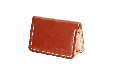 No. 215 - Card Wallet in Cognac Shell Cordovan