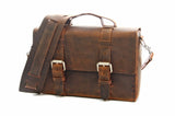 No. 4313 - Standard Minimalist Leather Satchel in LIMITED Distressed Buffalo