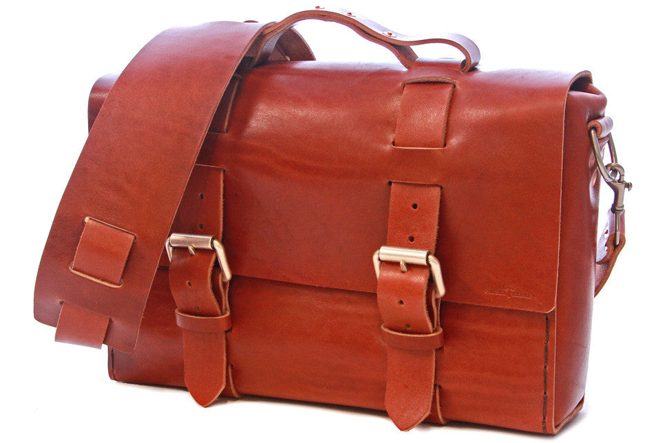 No. 4313 - Minimalist Standard Leather Satchel in Horween's Rich Chestnut - ONLY TWO BAGS MADE!
