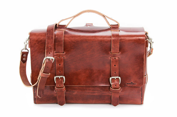 No. 4316 - Bohemian Leather Satchel in Havana Brown