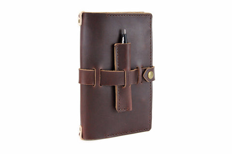 No. 117 - Medium Journal Cover in Limited Horween's Brown