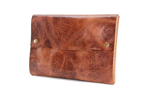 "No. 1214 - Large Portfolio Case in Glazed Tan (Fits 15"" MacBook Pro)"