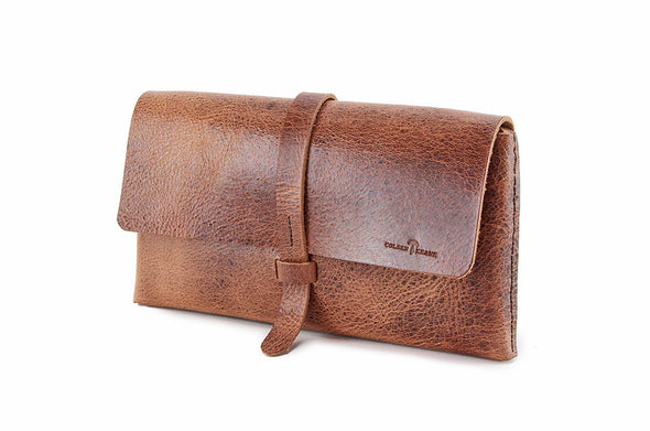 No. 317 Clutch in Glazed Tan
