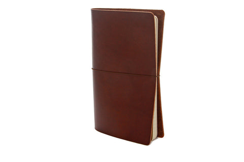 No. 510 - Medium Journal Cover in LIMITED Horween Rich Chestnut - SOLD OUT