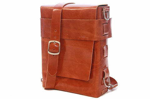 No. 820 The Classic Handmade Leather Bag in Amber Brown