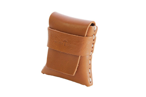 No. 1111 - LIMITED Square MicroWallet w/ Cover in Tan
